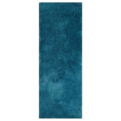 Ammon Hand Tufted Blue Area Rug Rug Size: Runner 26 x 10