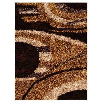 Bissette Shag Hand Tufted Beige/Black/Brown Area Rug