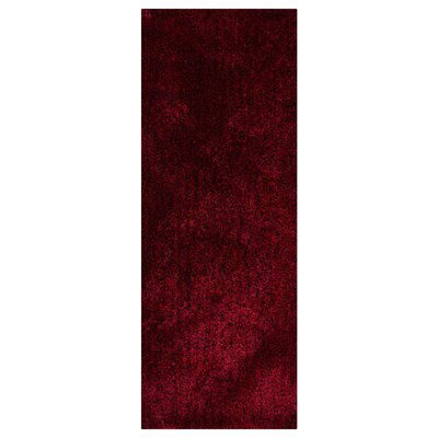Amici Hand Tufted Red/Black Area Rug Rug Size: Runner 26 x 10