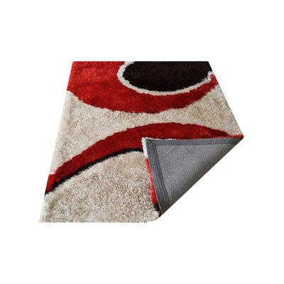 Bismarck Shag Hand Tufted Red/Black Area Rug