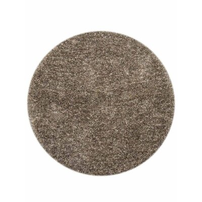 Danelle Hand-Woven Brown Area Rug Rug Size: Round 8