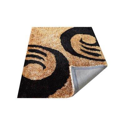 Bivens Shag Hand-Tufted Beige/Black Area Rug