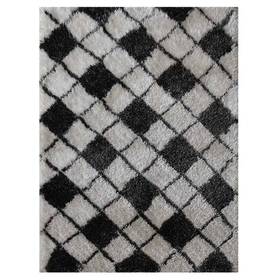 Bitteridge Shag Hand-Woven Gray/Black Area Rug Rug Size: Rectangle�5 x 8
