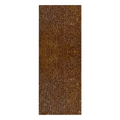 Birkett Hand Tufted Brown Area Rug Rug Size: Runner 2'6