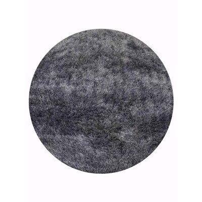 Amin Hand Tufted Gray Area Rug Rug Size: Round 10