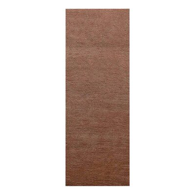 Birdsview Loom Hand Knotted Wool Camel Area Rug Rug Size: Runner 2'6