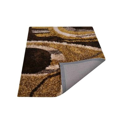 Bissette Shag Hand-Woven Beige/Black/Brown Area Rug Rug Size: Rectangle�5 x 8