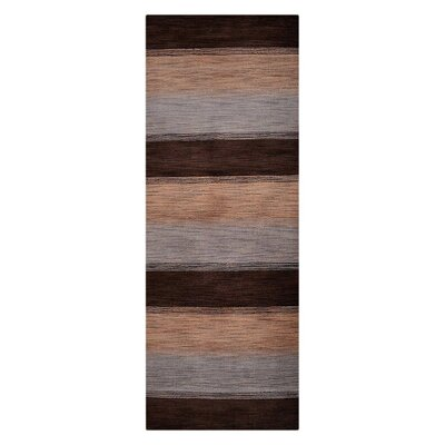 Blackledge Loom Hand Knotted Wool Brown/Beige/Bray Area Rug Rug Size: Runner 28 x 8