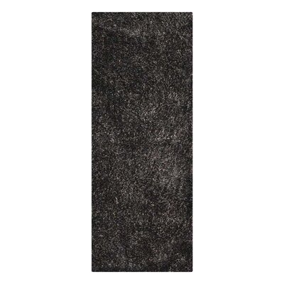 Amico Hand Tufted Black/Silver Area Rug Rug Size: Runner 26 x 8
