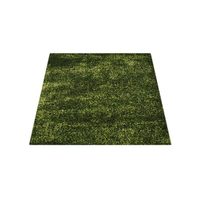 Sanford Solid Hand-Woven Green Area Rug Rug Size: Square 8
