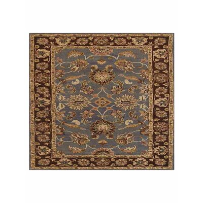 Mazzariello Vintage Hand-Woven Wool Blue/Brown Area Rug Rug Size: Square 10