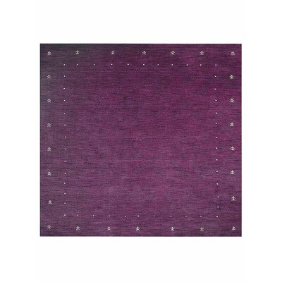Casiodoro Loom Hand Knotted Wool Purple Area Rug Rug Size: Square 10 x 10