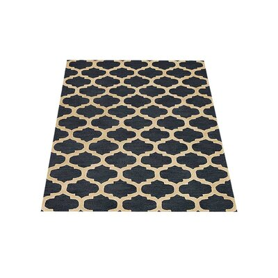 Sylwia Hand-Tufted Black/Yellow Area Rug