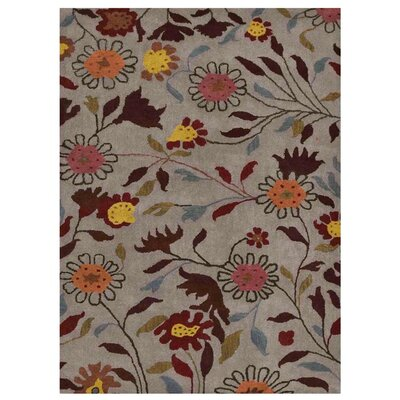 Malayah Floral Hand-Tufted Gray Area Rug