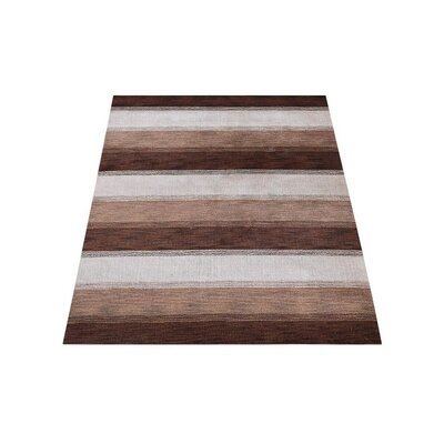 Chevery Hand-Knotted Wool Brown/Beige Area Rug