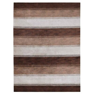 Chevery Hand-Woven Wool Brown/Beige Area Rug Rug Size: Rectangle 5 x 8