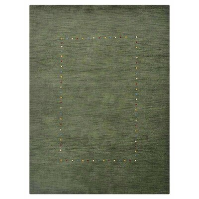Colorado City Hand-Knotted Wool Green Area Rug