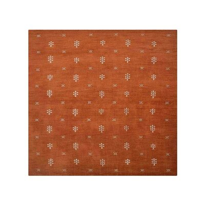 Colverdale Hand-Knotted Wool Orange Area Rug