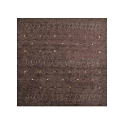 Coppermead Hand-Woven Wool Brown Area Rug Rug Size: Square 8