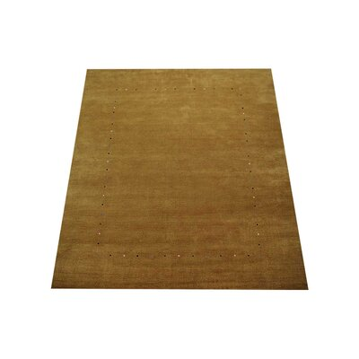 Clarris Hand-Knotted Wool Gold Area Rug