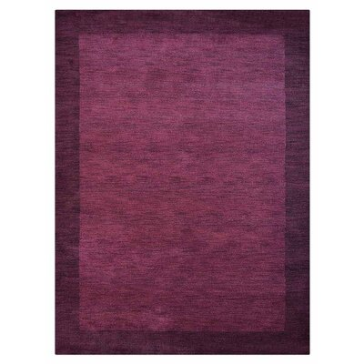 Vilmarie Hand-Knotted Wool Purple Area Rug