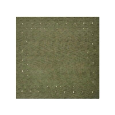 Copernicus Hand-Knotted Wool Green Area Rug