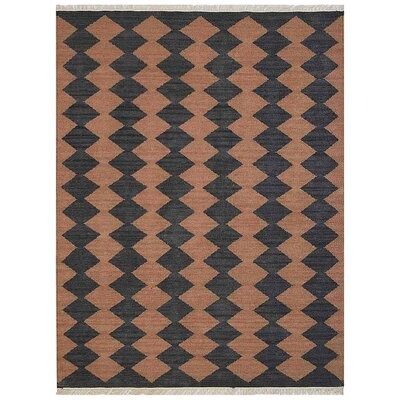 Zayas Hand-Woven Brown/Charcoal Area Rug Rug Size: Rectangle�5 x 8