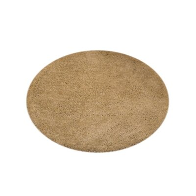 Sanford Solid Hand-Woven Ivory Area Rug Rug Size: Round 10