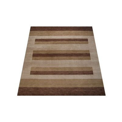 Carolin Hand-Knotted Wool Brown/Light Beige Area Rug