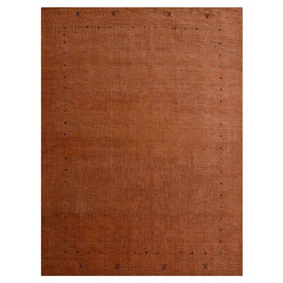 Condon Hand-Knotted Wool Orange Area Rug