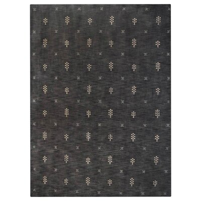 Copperas Hand-Knotted Wool Charcoal Area Rug