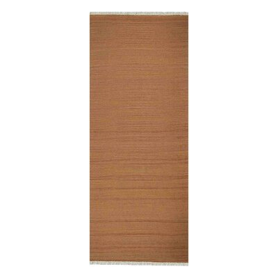 Corvallis Hand-Woven Orange Area Rug Rug Size: Runner 26 x 12
