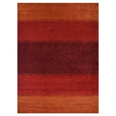 Tram Hand-Knotted Wool Orange/Red Area Rug