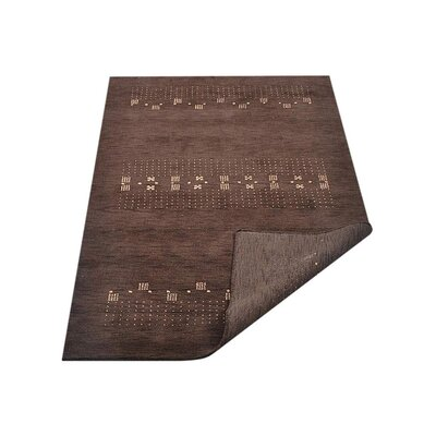 Constable Hand-Knotted Wool Brown Area Rug