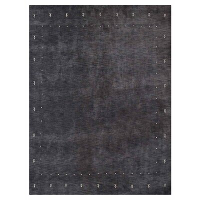 Coral Springs Hand-Knotted Wool Charcoal Area Rug