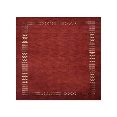 Ceniceros Solid Hand-Woven Wool Red Area Rug Rug Size: Square 10
