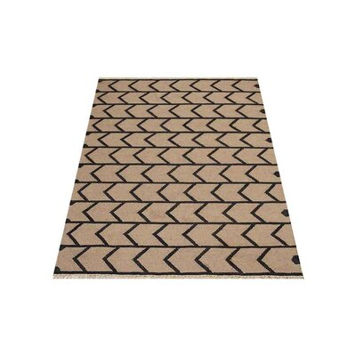 Alisia Hand-Woven Cream/Charcoal Area Rug Rug Size: Rectangle�7 x 9