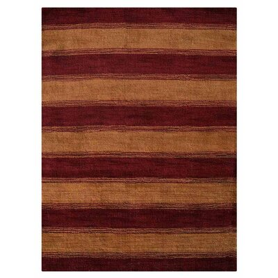 Zebrowski Hand-Knotted Wool Red/Gold Area Rug