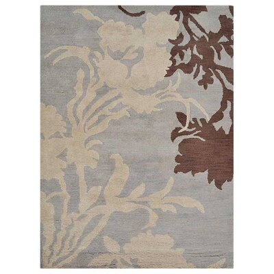 Abhay Floral Hand-Tufted  Gray/Beige Area Rug