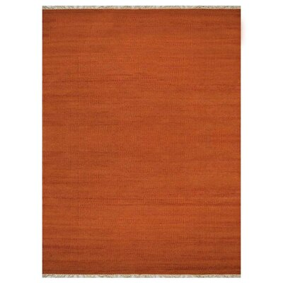 Cotulla Hand-Woven Wool Dark Orange Area Rug Rug Size: 8 x 10