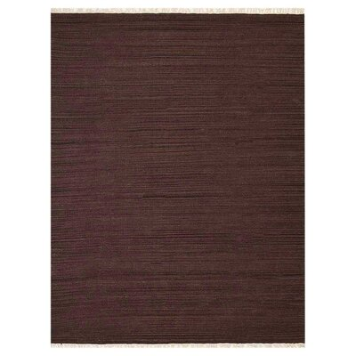Cottesmore Hand-Woven Wool Dark Brown Area Rug Rug Size: 5 x 8