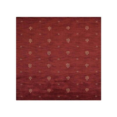 Conness Hand-Knotted Wool Red Area Rug
