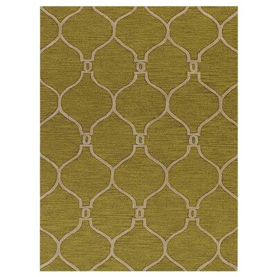 Leevell Hand-Tufted Green Area Rug