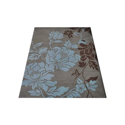 Purti Floral Hand-Woven Beige/Brown Area Rug Rug Size: Rectangle�5 x 8