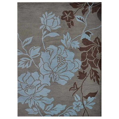 Purti Floral Hand-Woven Beige/Brown Area Rug Rug Size: Rectangle�8 x 10