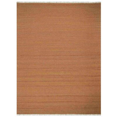 Corvallis Hand-Woven Wool Orange Area Rug Rug Size: 7' x 9'