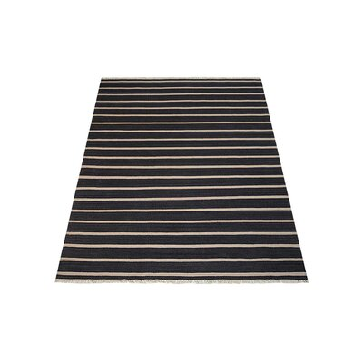 Reyes Hand-Woven Charcoal/Cream Area Rug Rug Size: Rectangle�7 x 9