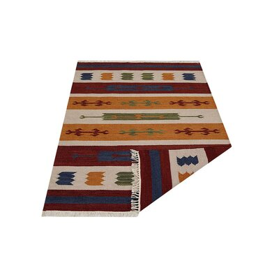 Clare Hand-Woven Brown/Blue Area Rug Rug Size: Rectangle�3 x 5