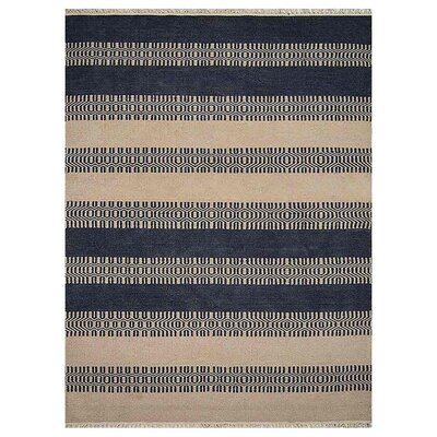 Sacramento Hand-Woven Aqua/Cream Area Rug Rug Size: Rectangle�8 x 10