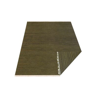 Creede Hand-Woven Olive Area Rug Rug Size: Rectangle�7 x 9